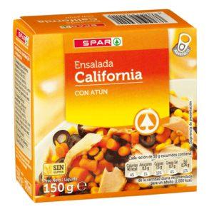 ENSALADA DE ATÚN CALIFORNIA SPAR 150 G. P.N. F.A.