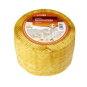 QUESO SEMICURADO SPAR MINI 550 G.