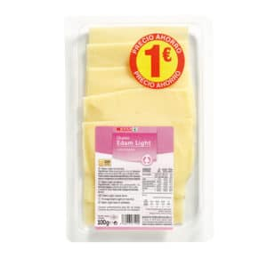 QUESO EDAM LIGHT SPAR LONCHAS 100 G.