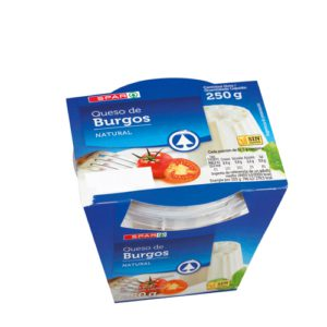 QUESO FRESCO BURGOS SPAR TARRINA 250 G.