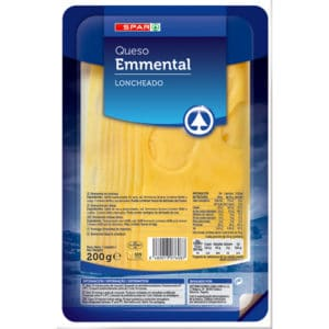 QUESO ENMENTAL NATURAL SPAR LONCHAS 200 G.