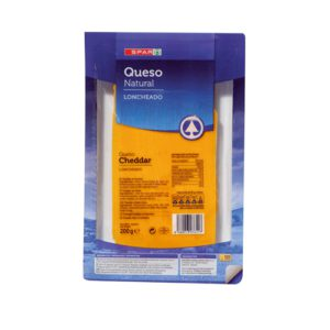 QUESO CHEDDAR NATURAL SPAR LONCHAS 200 G.