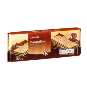 BARQUILLOS CHOCOLATE SPAR