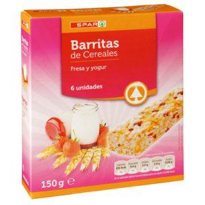 BARRITAS CEREALES FRESA Y YOGUR SPAR