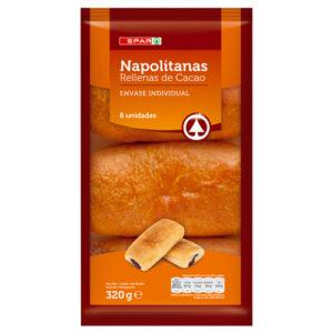 NAPOLITANAS RELLENAS DE CHOCOLATE SPAR