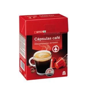 CAPSULAS CAFE DESCAFEINADO SPAR 10 uds.
