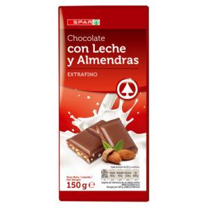CHOCOLATE EXTRAFINO C/ALMENDRAS SPAR