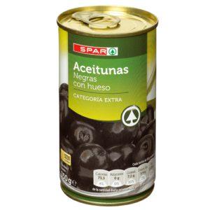 ACEITUNAS CACEREÑA NEGRAS SPAR