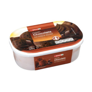 HELADO CHOCOLATE CON VIRUTAS SPAR TARRINA 500 GR / 1 L.