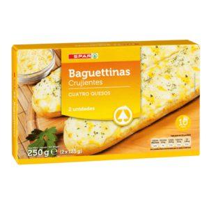 BAGUETINAS 4 QUESOS SPAR 2X125 G.