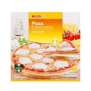 PIZZA 4 QUESOS MASA FINA SPAR