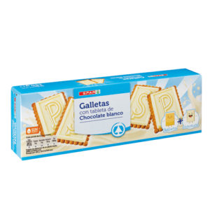 GALLETAS CON CHOCOLATINA BLANCA SPAR