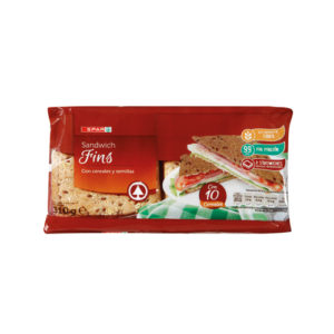 PAN SANDWICH CEREALES TIPO THINS 310 GR