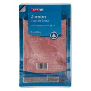 JAMÓN COCIDO EXTRA SIN SAL SPAR 150 G.
