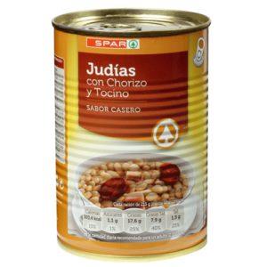 JUDIAS C/CHORIZO Y TOCINO SPAR