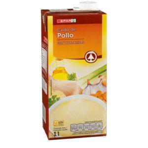 CALDO DE POLLO SPAR BRIK 1 L.