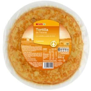 TORTILLA DE PATATA CON CEBOLLA SPAR 500 G.