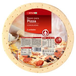 BASES DE PIZZA CONGELADA SPAR PACK-3X130 G.