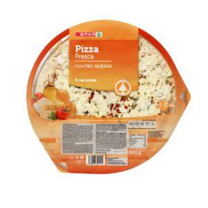 PIZZA REFRIGERADA 4 QUESOS SPAR 400 G