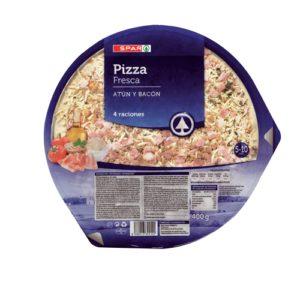 PIZZA REFRIGERADA ATÚN Y BACON SPAR 400 G