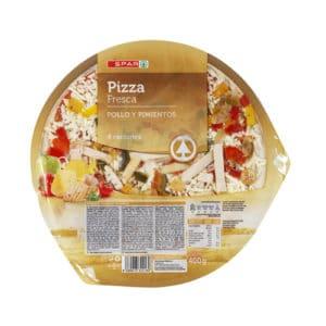 PIZZA REFRIGERADA POLLO SPAR
