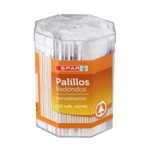 PALILLOS REDONDOS ENFUNDADO SPAR BOTE 115/U