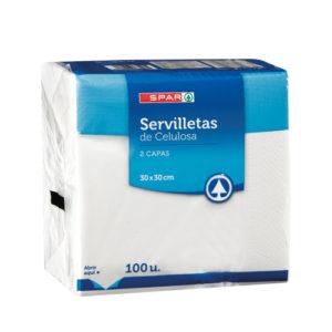 SERVILLETAS BLANCAS 30x30 100 UND 2 CAPAS