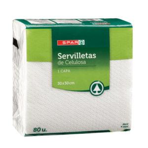 SERVILLETAS BLANCAS 30x30 80 UND 1 CAPA