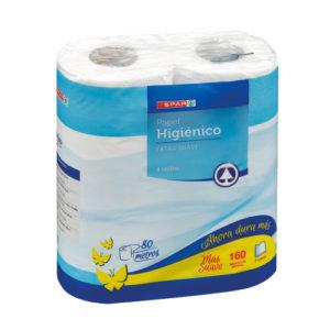 PAPEL HIGIENICO PACK-4 100% EXTRA SUAVE