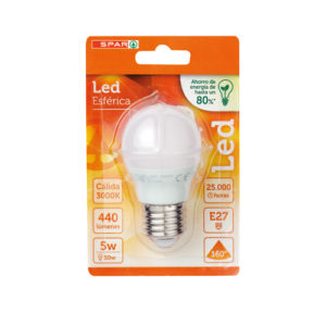LED ESFERICA 5W E27 CALIDA