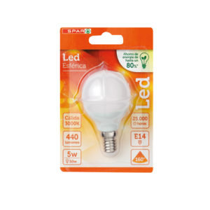 LED ESFERICA 5W E14 CALIDA