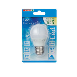 LED ESFERICA 5W E27