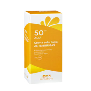Crema solar antiarrugas