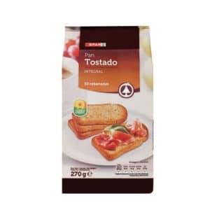 PAN TOSTADO INTEGRAL 30REB SPAR 270 GR