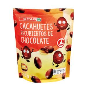 CACAHUETES RECUBIERTOS DE CHOCOLATE NEGRO SPAR 250 GRS.