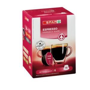 CÁPSULAS CAFÉ ESPRESSO SPAR COMPATIBLES DOLCE GUSTO 16 UND.
