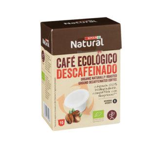 CAFÉ ECOLÓGICO SPAR NATURAL DESCAFEINADO CÁPSULAS BIODEGRADABLES 10 UDS.