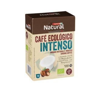 CAFÉ ECOLÓGICO SPAR NATURAL INTENSO CÁPSULAS BIODEGRADABLES 10 UDS.