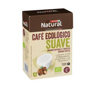 CAFÉ ECOLÓGICO SPAR NATURAL SUAVE CÁPSULAS BIODEGRADABLES 10 UDS.