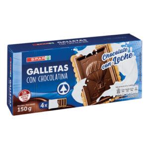 GALLETAS CON CHOCOLATINA CON LECHE SPAR 150 GRS.