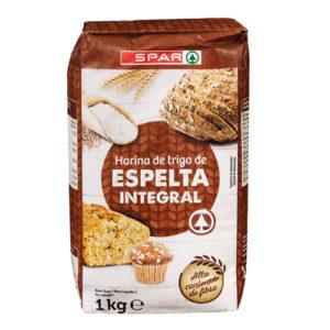 HARINA DE TRIGO DE ESPELTA INTEGRAL SPAR 1 KG.