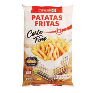 PATATAS FRITAS SPAR CORTE FINO1 KG.