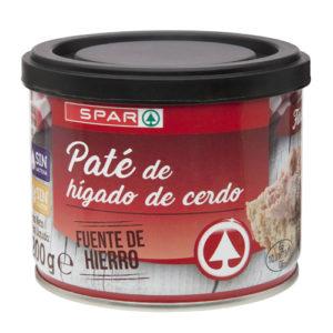PATÉ DE HÍGADO DE CERDO SPAR TAPA NEGRA LATA 200 GRS.