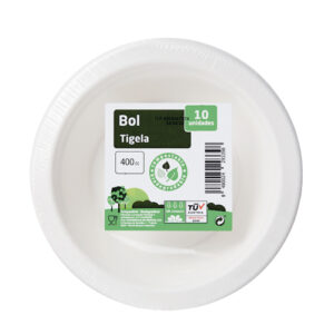 BOL COMPOSTABLE Y BIODEGRADABLE 400 C.C. 10 UND.